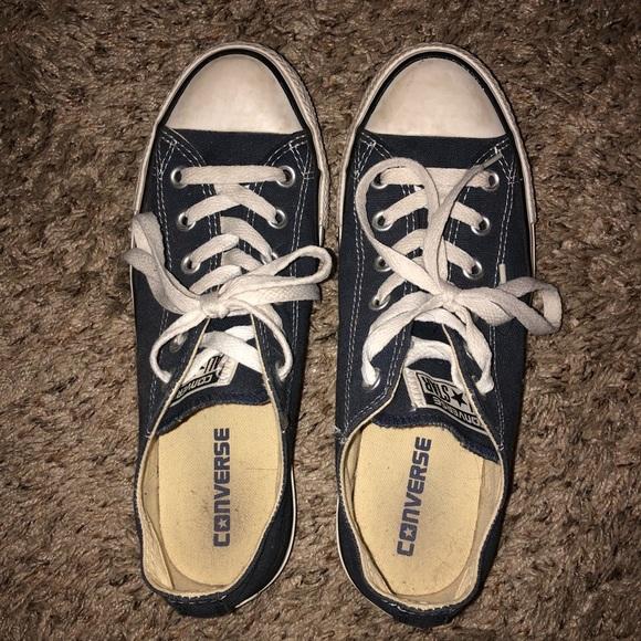 c6d2495aefdc Converse Shoes - Navy blue short converse women s 8 men s 6